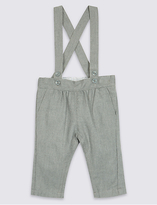 Marie Chantal Marie-chantal Brushed Wool Trousers with Strap