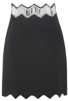 David Koma Plexi Crystal-embellished Skirt