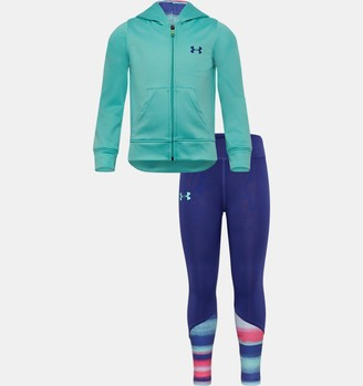 Under Armour Girls' Pre-School UA Hue Saturation Full Zip Hoodie Set