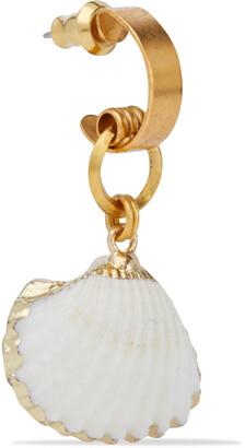 Elizabeth Cole 24-karat Gold-plated Faux Shell Earrings