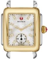 Michele Women's Deco 16 Diamond Dial Two-Tone Watch Case, 29Mm X 31Mm
