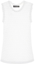 Dolce & Gabbana Lace-knit tank top