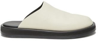 The Row Sabot Backless Leather Loafers - Ivory