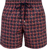 Vilebrequin Moorea Fish Foot-print swim shorts