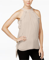 Bar III Ruffled Halter Blouse, Only at Macy's
