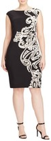 Lauren Ralph Lauren Plus Size Women's Placed Print Jersey Sheath Dress