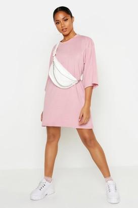 boohoo Oversized 3/4 Sleeve T-Shirt Dress