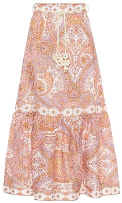 Zimmermann Exclusive to Mytheresa Paisley linen maxi skirt