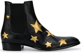 Saint Laurent Wyatt 30 star motif boots