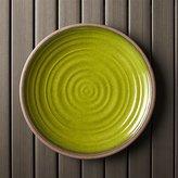 "Crate & Barrel Caprice Green 10.5"" Melamine Plate"
