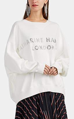 "Katharine Hamnett Women's ""Vince"" Logo Cotton Oversized Sweatshirt - White"
