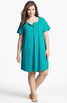 Nordstrom 'Dreamy' Short Sleeve Henley Sleep Shirt (Plus Size)