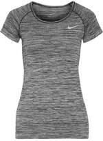 Nike Paneled Dri-fit Stretch T-shirt - Anthracite