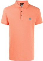 BOSS colour block polo shirt