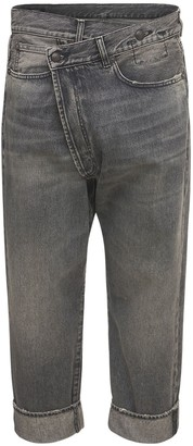 R 13 Crossover Cotton Denim Straight Jeans