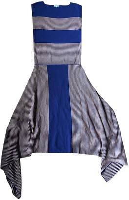 Loewe Navy Silk Dresses