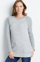 J. Jill Striped Crew-Neck Sweatshirt