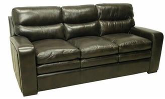 "Wildon Home Genuine Leather 80"" Round Arm Sofa"