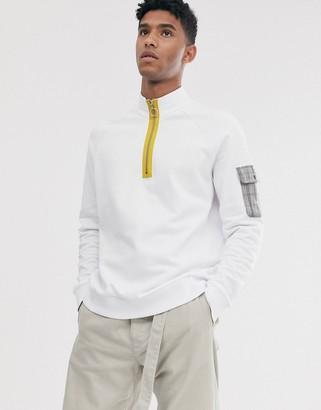 Brooklyn Supply Co. Brooklyn Supply Co funnel neck sweatshirt in white