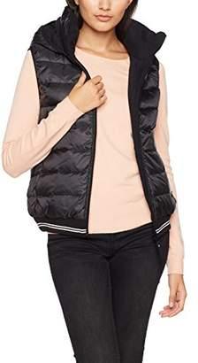 Bench Women's Down Reversible Vest Gilet, (Black Beauty Bk11179), Medium