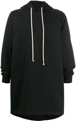 Rick Owens long-length jersey hoody