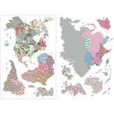 Brewster Wall WallPops Boho World Map Giant Wall Art Kit