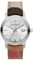 Burberry 'The City' Woven Strap Watch, 34mm