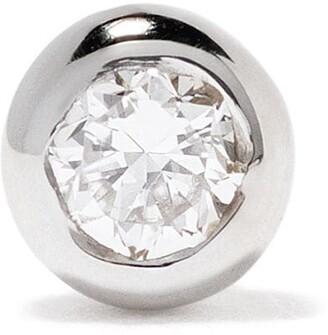 Maria Black 14kt white gold Small Dot diamond stud