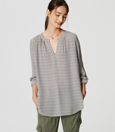 LOFT Geo Split Neck Tunic