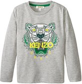 Kenzo Alexy Tee Shirt (Toddler/Kid) - China Grey - 2 Years