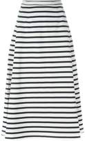 Alexander Wang striped A-line skirt