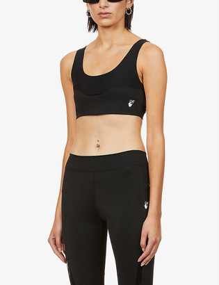 Off-White Athleisure branded stretch-jersey bra top