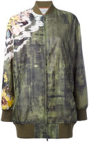 Valentino abstract print bomber jacket - women - Silk/Cotton/Polyamide/Spandex/Elastane - 40