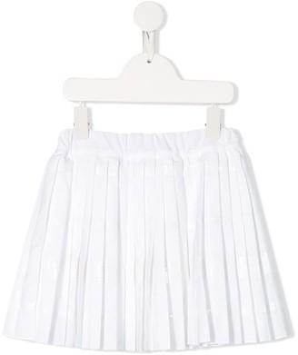BRUNELLO CUCINELLI KIDS Sequin Embroidered Skirt