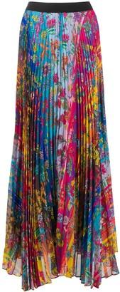 Golden Goose Kimberley floral pleated skirt