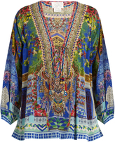 Camilla Bohemian Bounty-print silk top