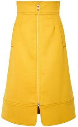Sea Crepe Midi Skirt