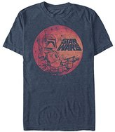 Star Wars Men's Fett up Graphic T-Shirt