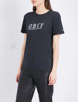 Obey Olde cotton-jersey T-shirt