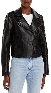 Blank NYC Star Faux Leather Moto Jacket