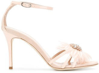Giuseppe Zanotti Embellished Flower Sandals