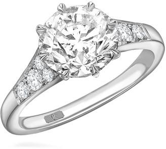 Pragnell platinum Masterpiece Antrobus diamond ring