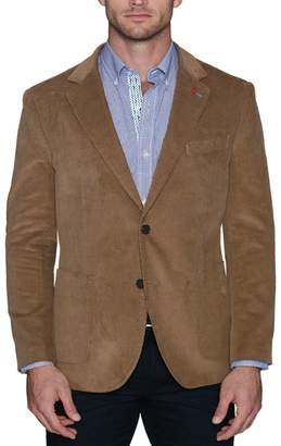 Tailorbyrd Classic Solid Corduroy Two Button Notch Lapel Modern Fit Sport Coat