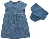 Ladybird Baby Girls Patterned Woven Dress And Knicker Set