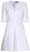 Alexander McQueen Wool And Silk-blend Mini Dress