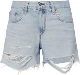 Rag & Bone Shredded Boyfriend Shorts