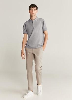 MANGO Technical fabric polo shirt