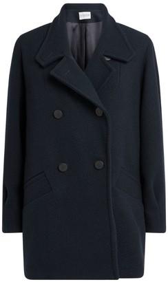 Claudie Pierlot Virgin Wool Double-Breasted Jacket
