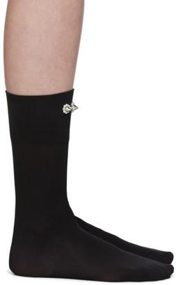 Simone Rocha Black Embellished Ankle Socks