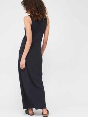 Mama Licious Maternity Lea Organic Maxi Dress - Black